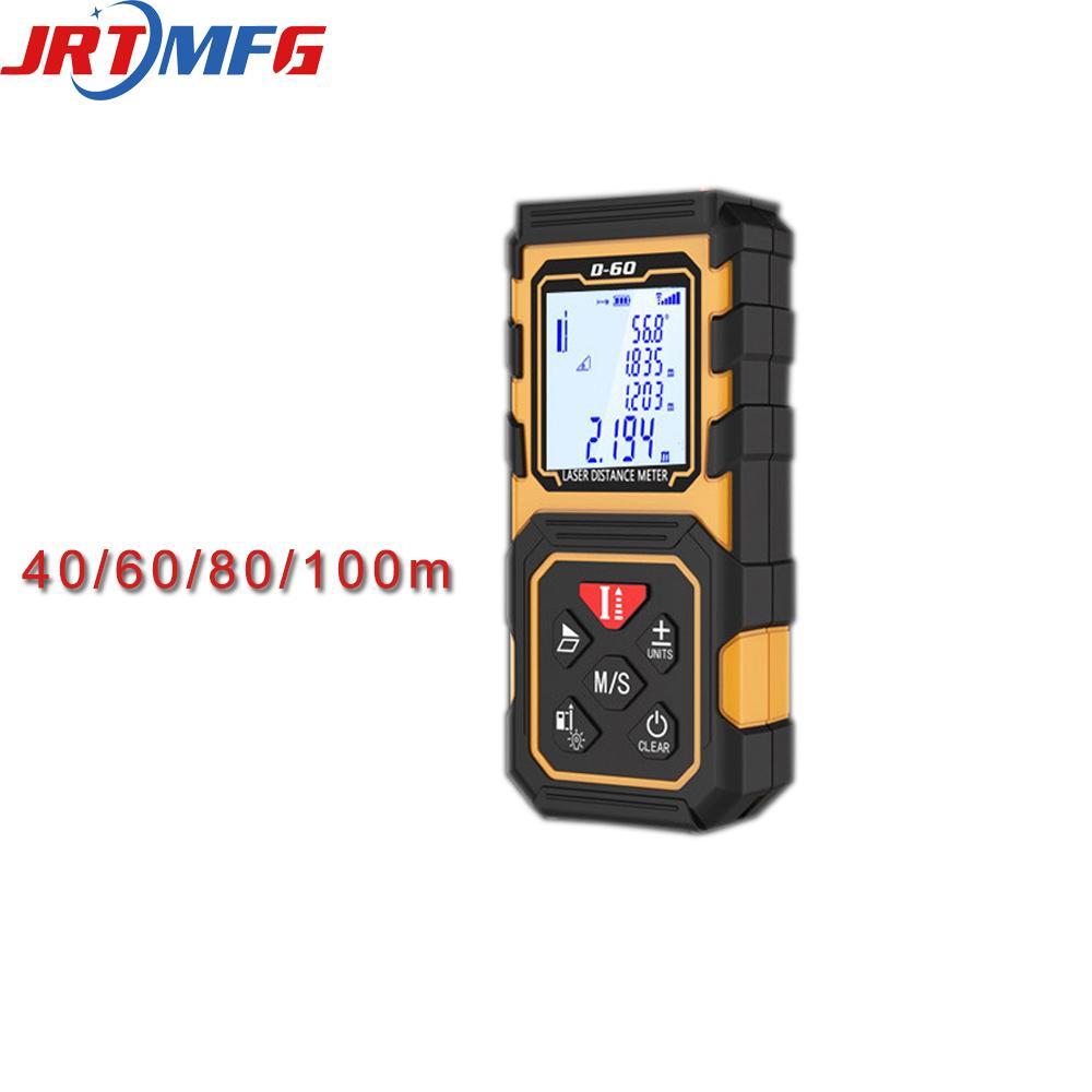 JRTMFG حاكم الليزر rangefinder 40 متر / 60 متر / 80 متر / 100 متر الإلكترونية الرقمية الليزر المسافة متر بطارية تعمل بالطاقة القياس الليزر D-100 T200603
