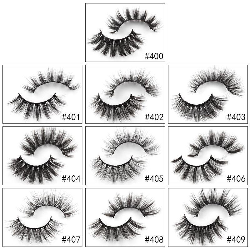 Nova Chegada 10 Pares / Lot Faux 3D Mink Lashes Natural Falso Mink Eyelashes Por Atacado Cílios Falsos Maquiagem Falso Cílios Eyelash