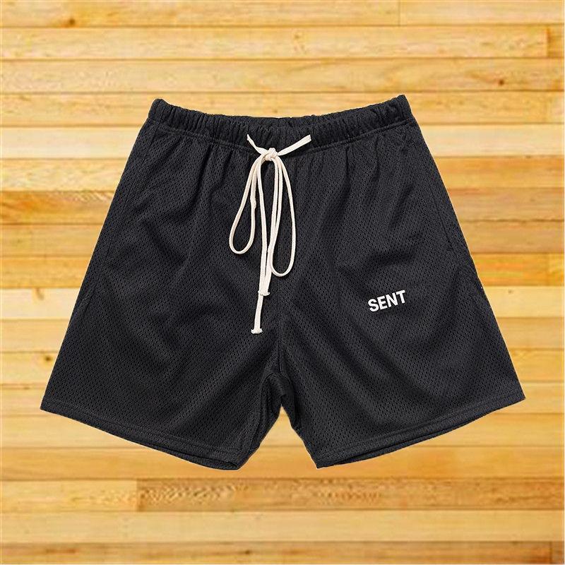 Известный стилист мужские шорты 2021 уличные моды мужские сетки пляж короткие брюки хип-хоп бегуры брюки