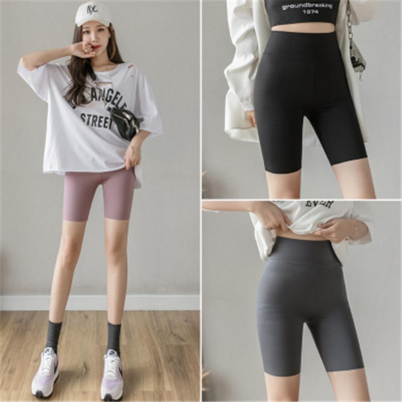Donne Leggings Skinny Leggings Moda Trend Abbigliamento Alto Addome Hip Lift Sport Cycling Shorts Femmina New Casual Slim Running Fitness Yoga Short Pant