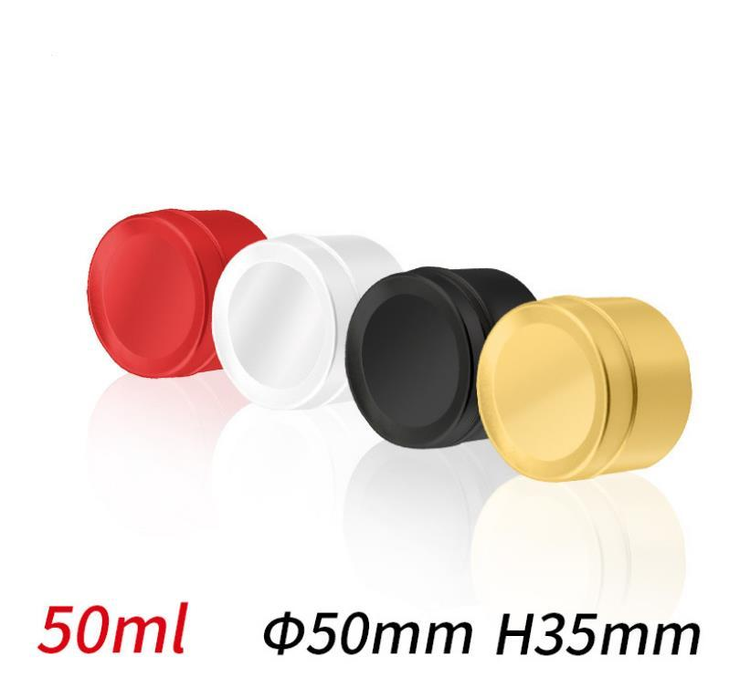 50ml Metal Round Tin Box Containers Storage Aluminum Tins Jars Screw Top Tin Cans for Store Spices Candies Tea SN3547