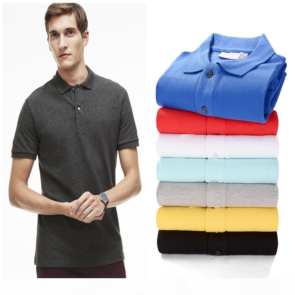 Mens Polo shirts Horse stickerei label männer polo hommes klassisch business casual top tee plus großes pferd baumwolle atmungsaktive größe s-2xl