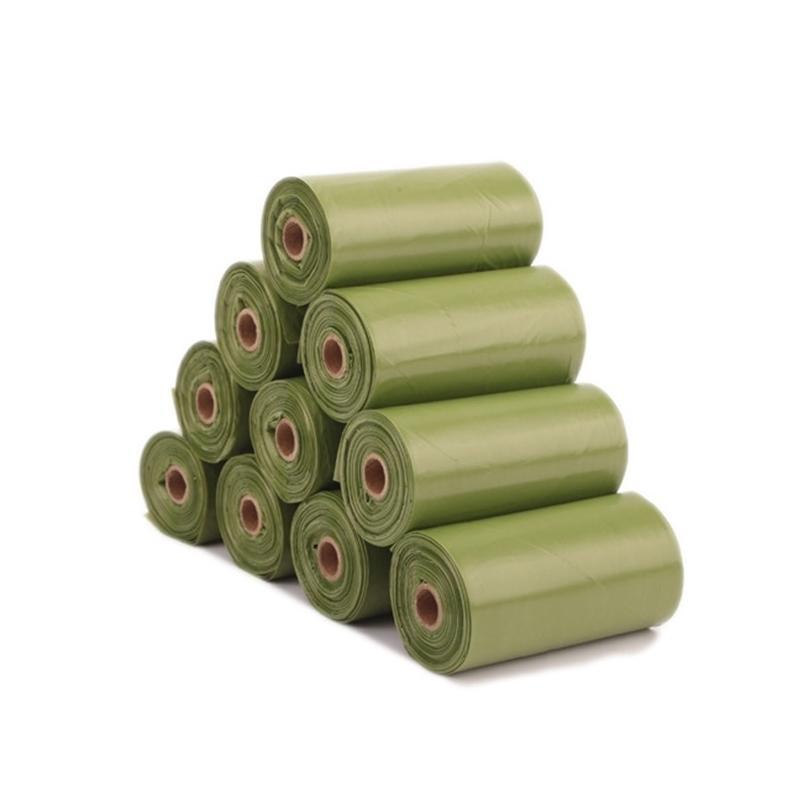 8 rouleaux 120 pcs sac de compagnie dégradable Eco-respectueux de l'éco-respectueux de la chat portable de chat chien sacs sacs animaux de compagnie de nettoyage des ordures 201218