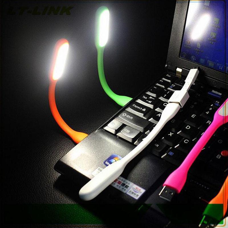 Flexível Bendable Portátil Lightweight Bright Mini USB Economia de Energia LED Lâmpada de Computador Luz para Leitura de Laptop Caderno PC