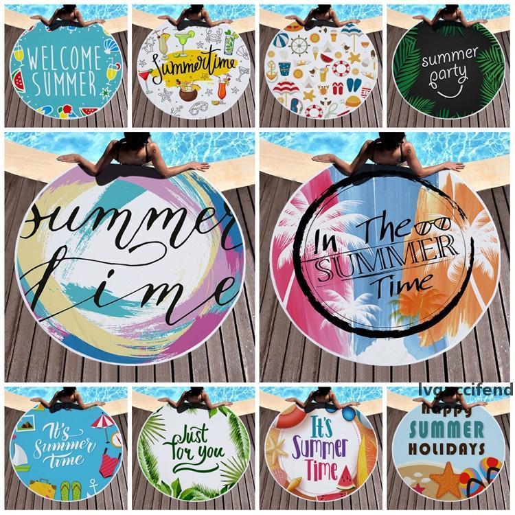 Runder Druck Strandtuch Lunchpad Sommer Serie Quaste Tuch Sommer Outdoor und Home Decke 150 cm 17Stylet2i51102