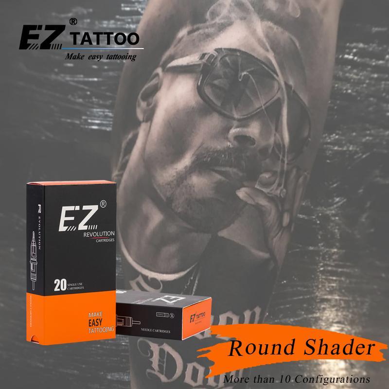 Aiguilles de tatouage de cartouche EZ Revolution Tableau rond Shader Tableau de 3,5 mm pour les poignées rotatives 20 pcs / boîte