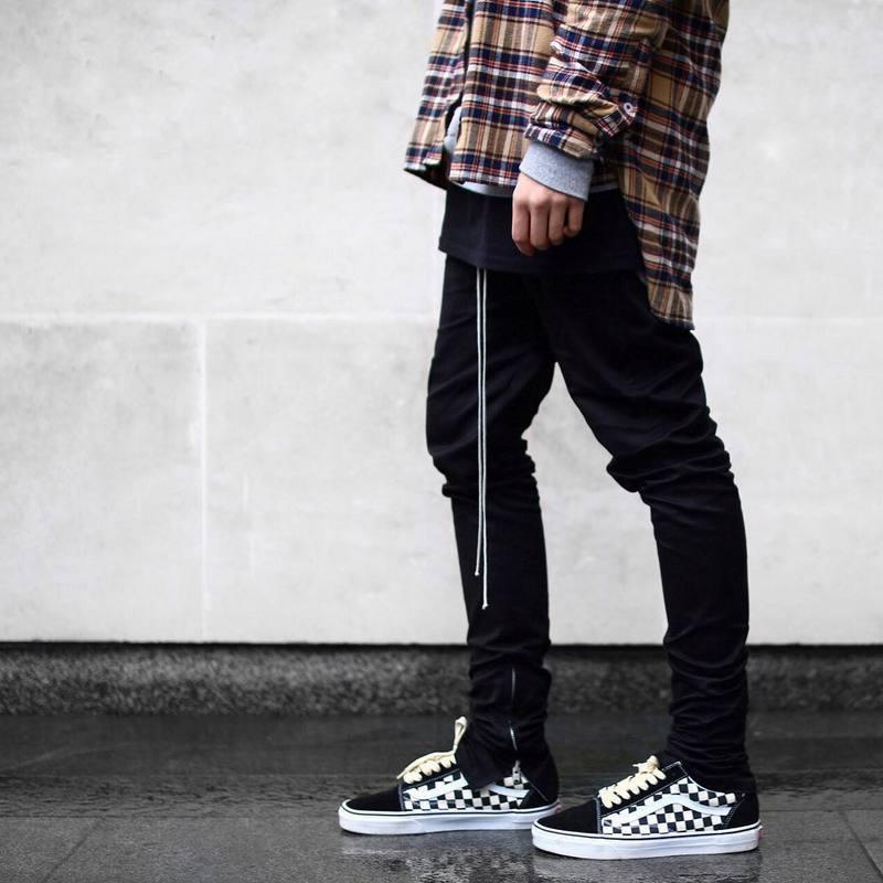 Pantaloni casual casual con coulisse sottili da uomo