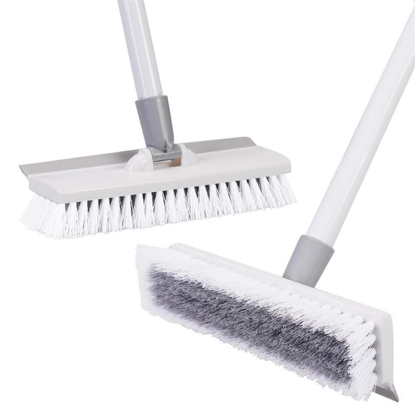 """Yocada Floor Scrub Escova 50 """"Ajustável Metal Inoxidável Metal Longo Scrubber com cerdas rígidas para limpeza de telha 201214"""