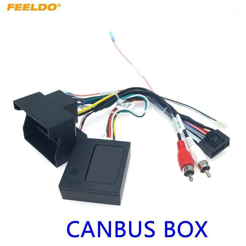 Feeldo Car Audio Radio 16pin Android Power Cable Adaptador con CANBUS Caja para E46 / E53 / E39 DVD Cableado de encendido Arnés # HQ64371