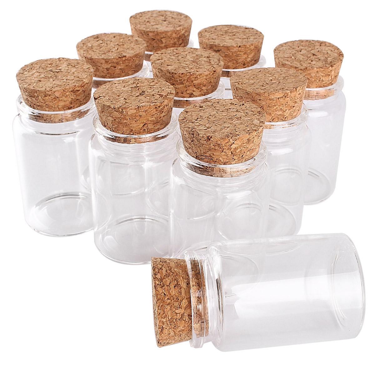 12 parça 80ml 47 * 70 * 32mm Cam Şişeler mantarlar ile Spice kavanozlar Vials cam konteyner düğün farours