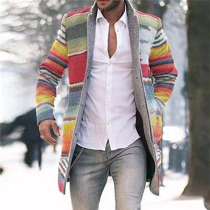Molla calda 2020 Nuovo commercio estero cardigan a metà lunghezza cappotto casual cappotto a maniche lunghe per uomo