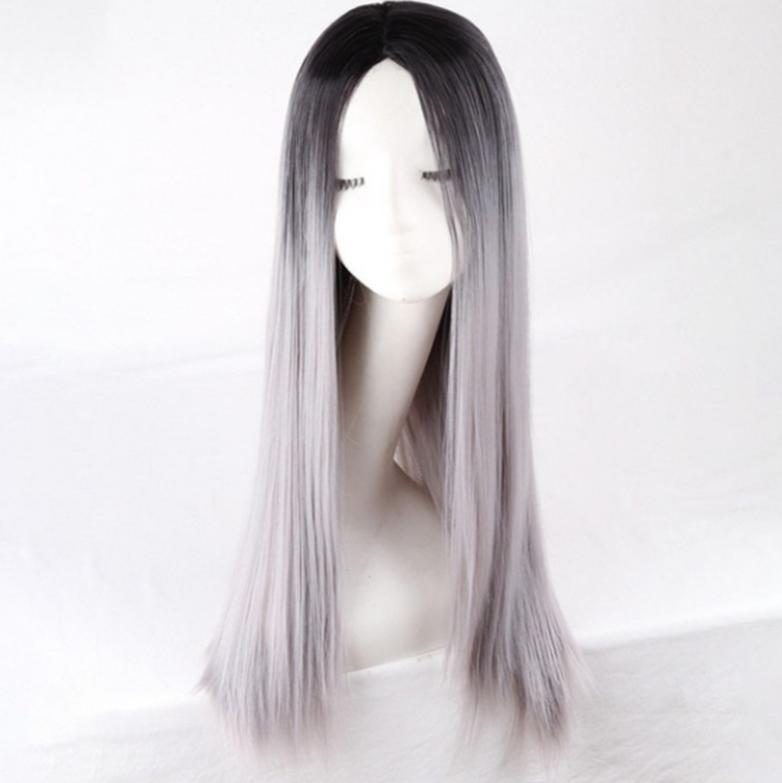 شعر طويل مستقيم طويل مستقيم، شعر مستعار مصبوغ ياباني، بيع الساخنة شعبية في أوروبا والولايات المتحدة، وآلية الألياف الكيميائية الباروكات