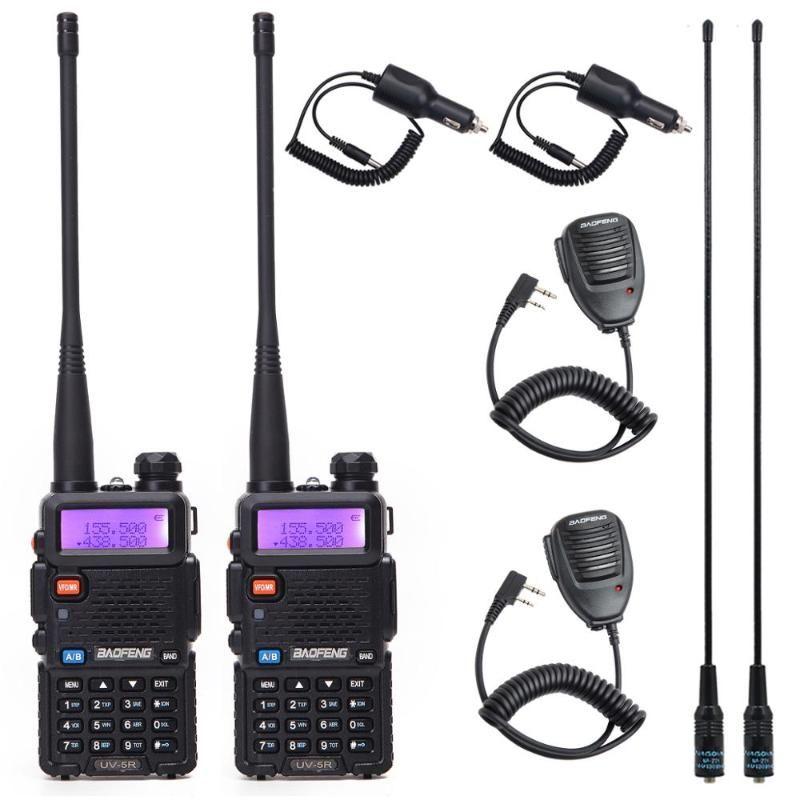 Walkie Talkie 2pcs Baofeng UV-5R VHF / UHF136-174MHZ400-520MHZ 듀얼 밴드 양방향 무선 UV 5R 휴대용 UV5R