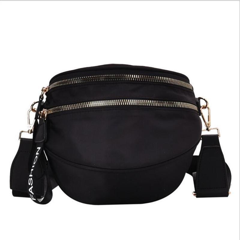 2021 Nueva moda versátil tela de nylon bolso para mujer Coreano ancho de hombro bolsa de pecho bolso de pecho un solo hombro mensajero rojo red