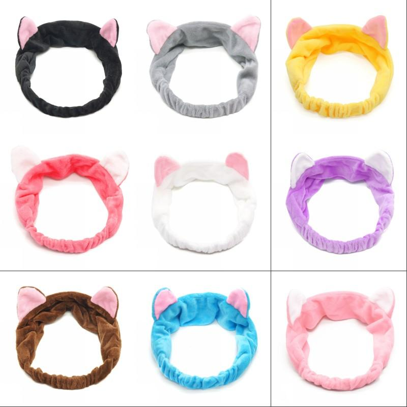 Fashion Women Headbands Cute Cat Ears Hair Band For Women Girl Wash Face Makeup Headwear Lady Bath Mask Holder Hair accessories 379 N2