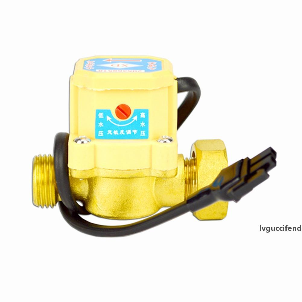 Accesorios de Presión práctico conector del interruptor de flujo de sellado Bomba de agua del anillo de hilo de cobre del sensor del control automático ajustable