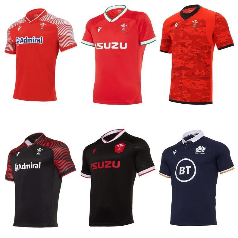 2020 2021 Wales Scotland Rugby Jersey 20 21 Home Away Galês tamanho S-5XL Scottish Shirt Maillot Camiseta Maglia