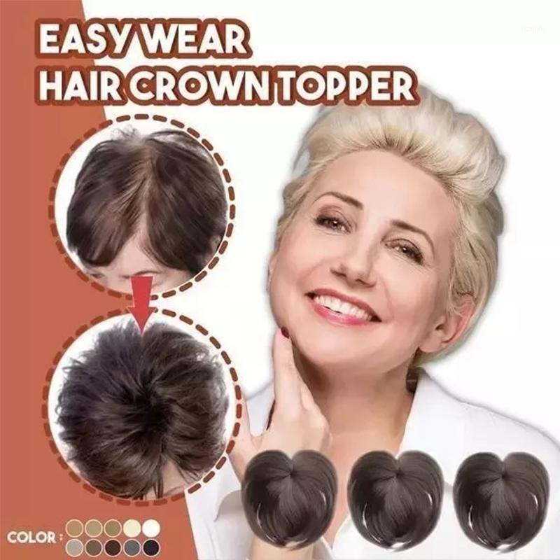 Dikişsiz saç topper Klip ipeksi klip-on saç topper insan peruk kadınlar için toptan kalite peruk aksesuarları1