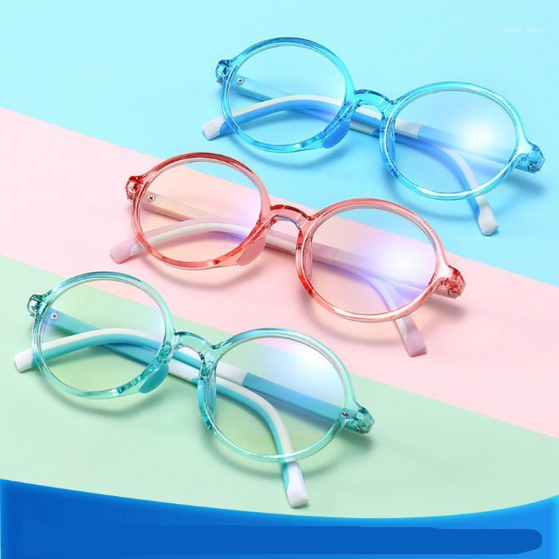 نظارات شمسية 3 حزمة الأطفال المضادة للضوء الأزرق حظر نظارات إطارات لصبي فتاة أطفال حماية الكمبيوتر الألعاب البصرية جولة NX1