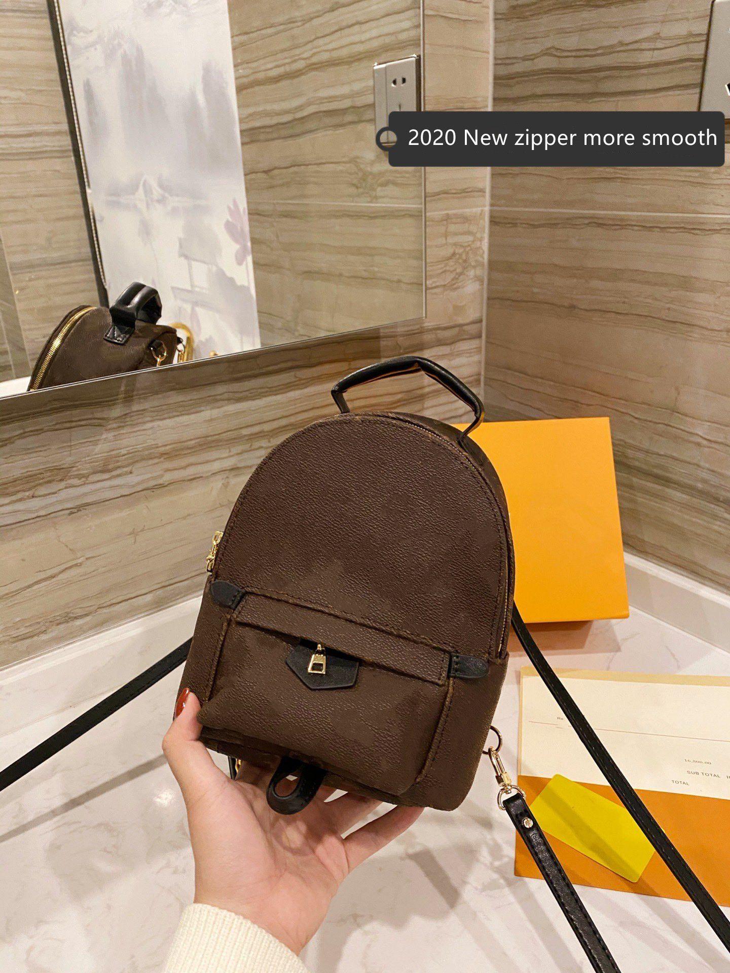 Mini mochila de cuero Mini 2020 mochilas de moda Back Bag Bolso Bolso Presbiliares Pulsera Genuina Hombro Mujeres Bolsos Bolso Cross Bod Lnug