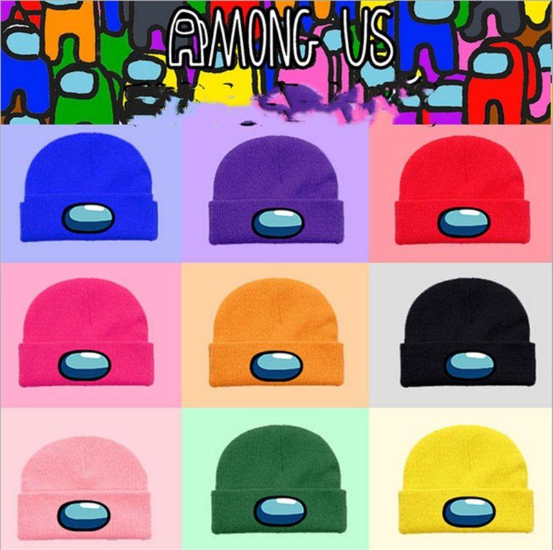 Unter den USA Game Beanie Cap Eltern-Kind Warme Winter Strickkappen Hut Erwachsene Kinder Häkeln Cap Tuque Ski Ohrenschützer Mützen Cartoon Gorros E122506