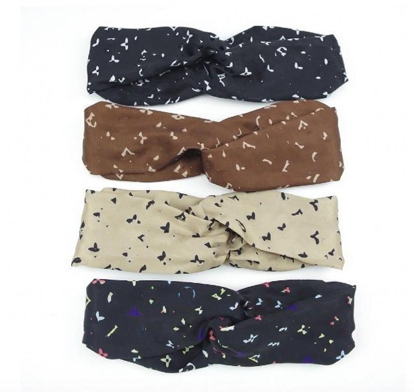 Tasarım Kafa Kafa Atkılar Kadınlar Için Ipek Çapraz Saç Bandı ile Elastik 4 Renkler Türban Bandnas Bantlar