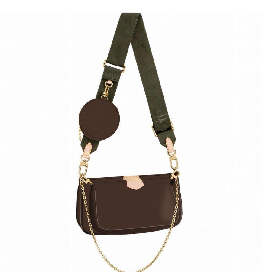 3 PCS 세트 좋아하는 멀티 포크 액세서리 봉투 여성 크로스 바디 지갑 메신저 핸드백 꽃 디자이너 어깨 레이디 가죽