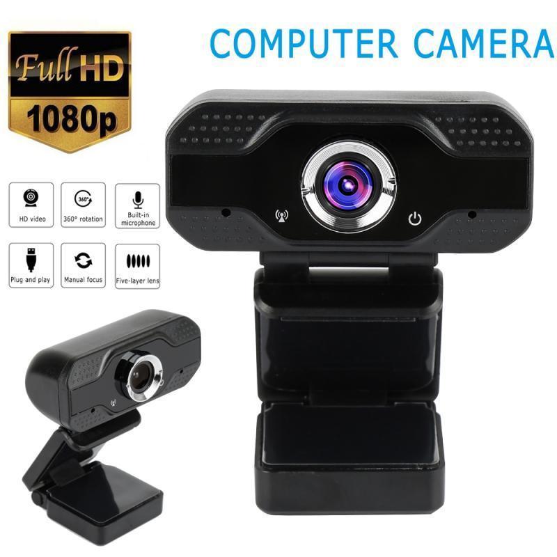 Веб-камера Web Cam 580p с микрофоном микрофона микрофона для ноутбука для компьютера + компьютерная камера с крышкой против Voyeur