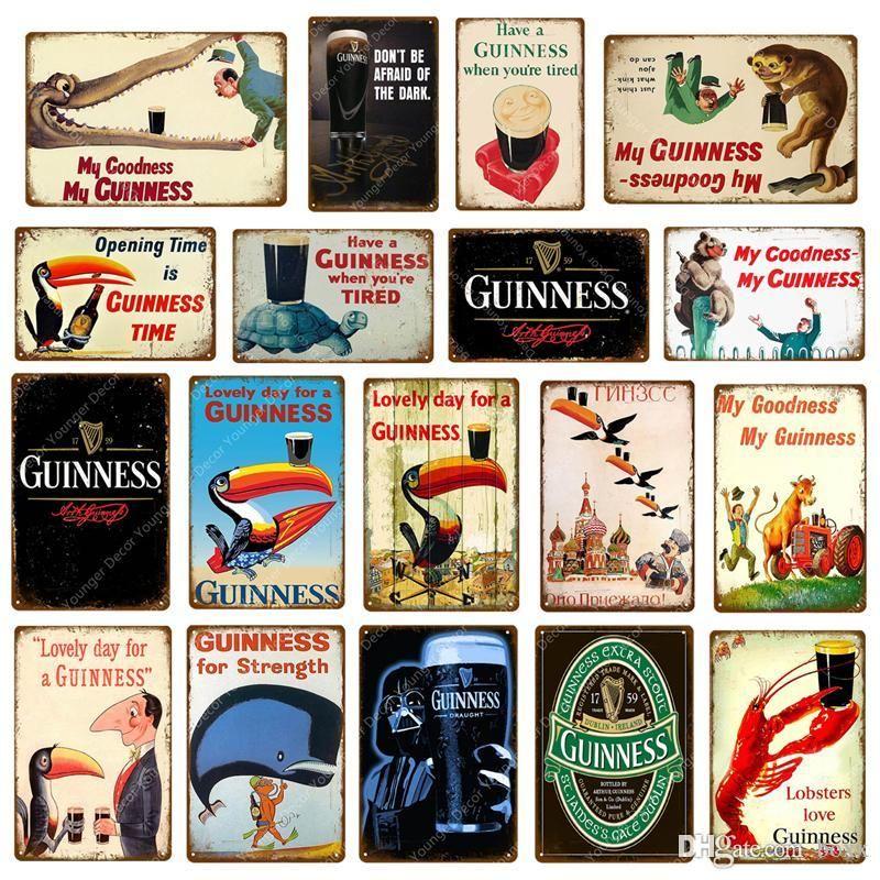 2021 Goodness My Guinness Metal Peinture Signes Vintage Affiche Bar Pub Pub Pub Décoratif Home Decor Murale Plaque de publicité Taille 30 * 20cm