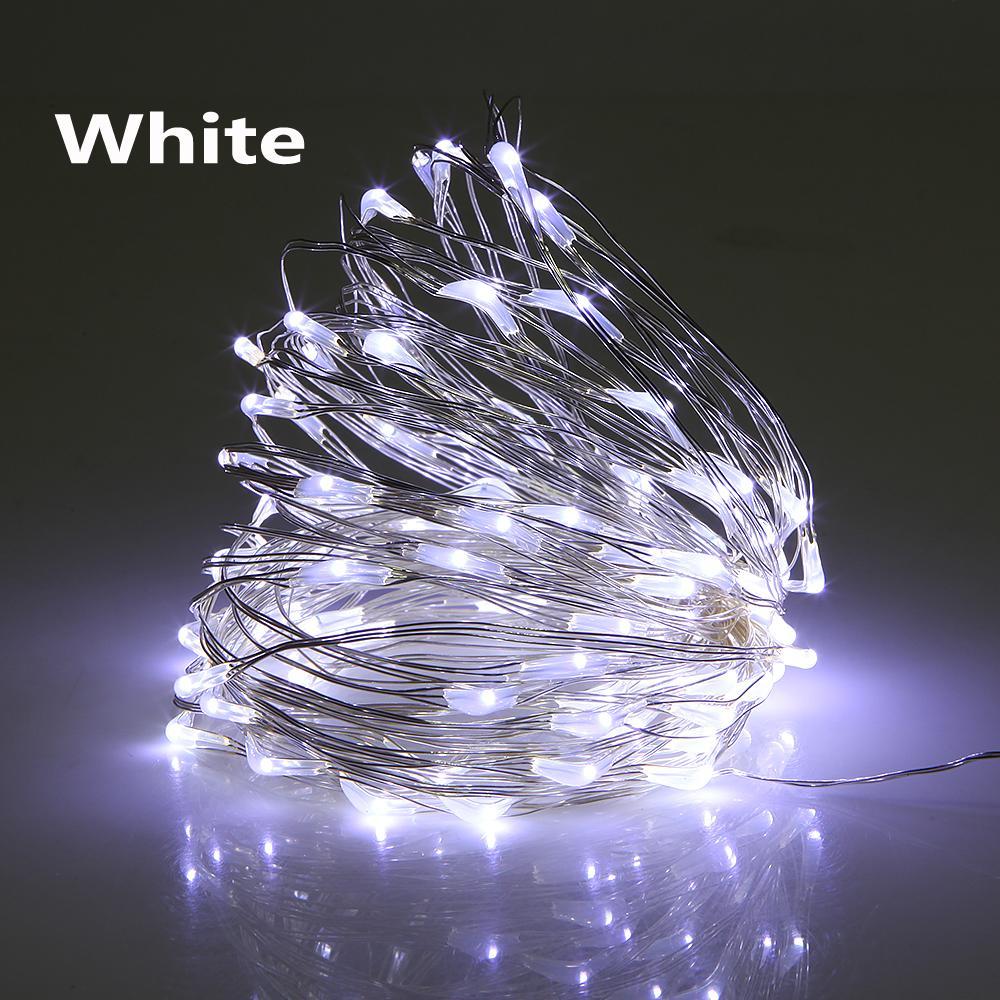 Luzes de Natal DC12V 5M 10M À Prova D 'Água LED String Luzes Decoração Lâmpada Quente Branco LED String Fairy Lights
