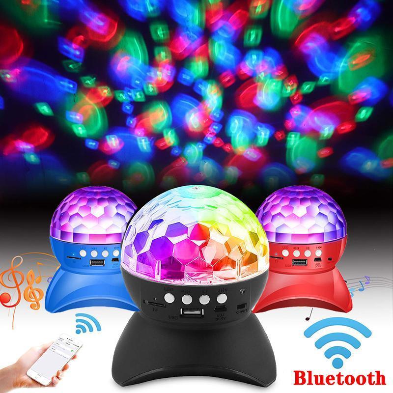 Bluetooth LED Kristal Sihirli Top Sahne Etkisi Işık 1000 mAh RGB DJ Kulübü Disko Parti Aydınlatma USB TF FM Radyo ile Bluetooth Hoparlör HWD4799