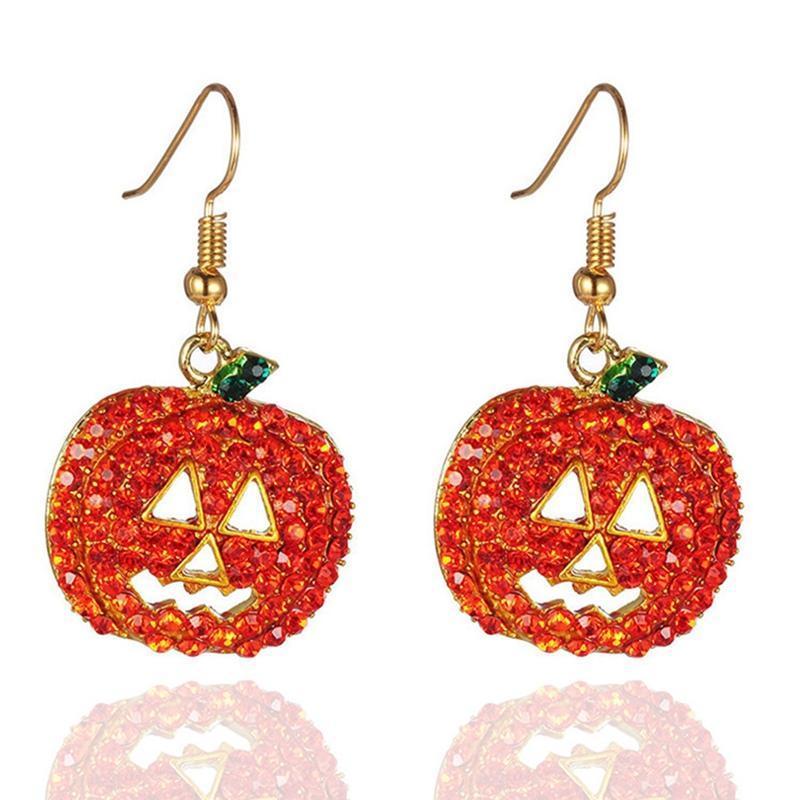 Süße Kürbis Halloween-Ohrringe Party Fancy Kleid Thanksgiving Girls Geschenk