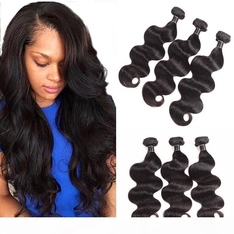 Vague Brésilienne Brésilienne Straight Deep Wave Waquine Vague Cheveux De Cheveux humains non transformés EXTENDUES DE CHEVEUX HUMIÈRES BRÉSILIENNES BUNDLES