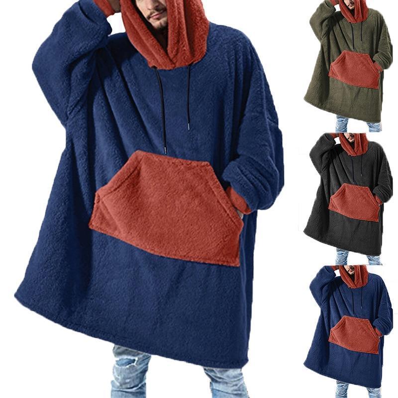 Inverno caldo tv tasca tasca tasca coperte con cappuccio adulti bambini accappatoio divano accogliente coperta felpa peluche cuode in pile in pile in pile outwears