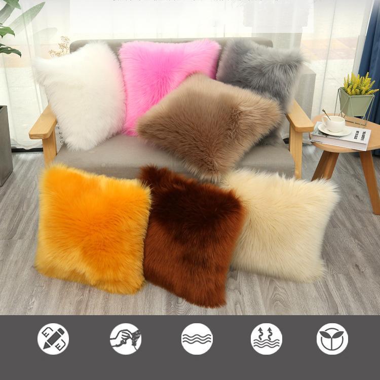 الشتاء أفخم المخدة أفخم السرير وسادة أريكة وسادة تغطي ديكورات المنزل وسادة يغطي 7 نمط XD24375