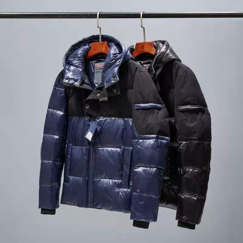 고품질 파카 후드 지퍼가있는 코트 최고 품질의 파카가 뜨거운 90 % 다운 따뜻한 가벼운 무게 편안한 검은 색과