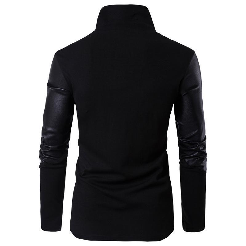 Euro 2020 ressort nouveau cuir T-shirt slim fit col pull en tricot de coton tout x01001