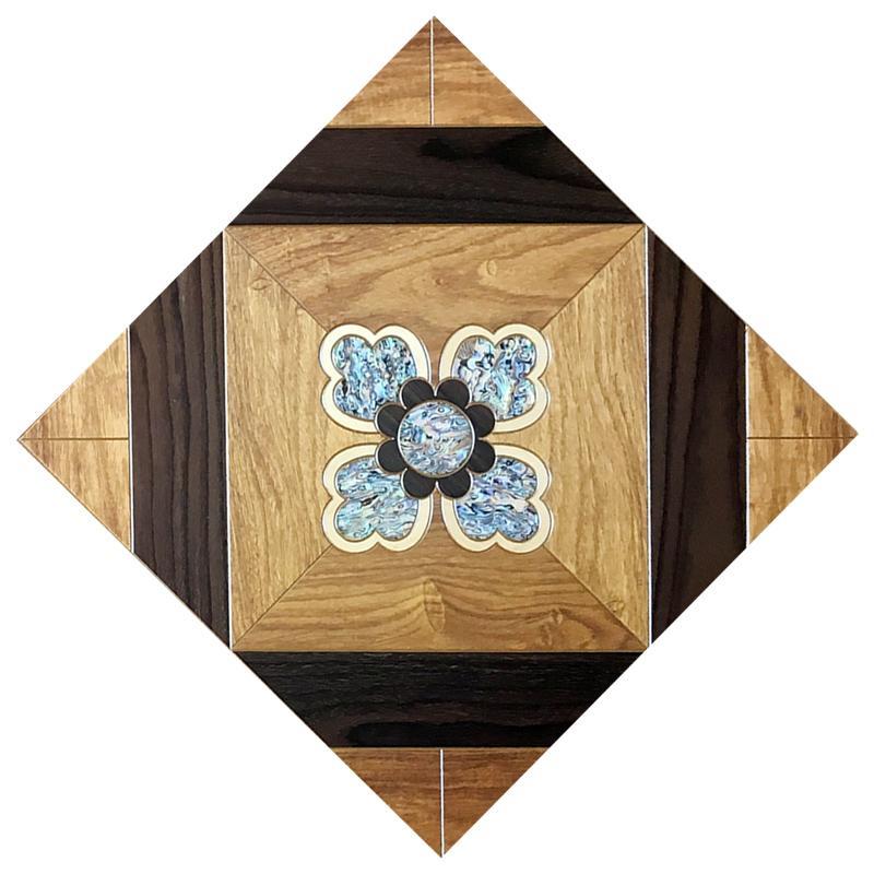 Kabuk Ahşap Zemin Yatak Odası Tasarım Ev Döşeme Kakma Parke Parke Kaçak Kılıfı Duvar Kağıdı Kaplama Panelleri Kereste Kosso Madalyon Sanatı Fayans