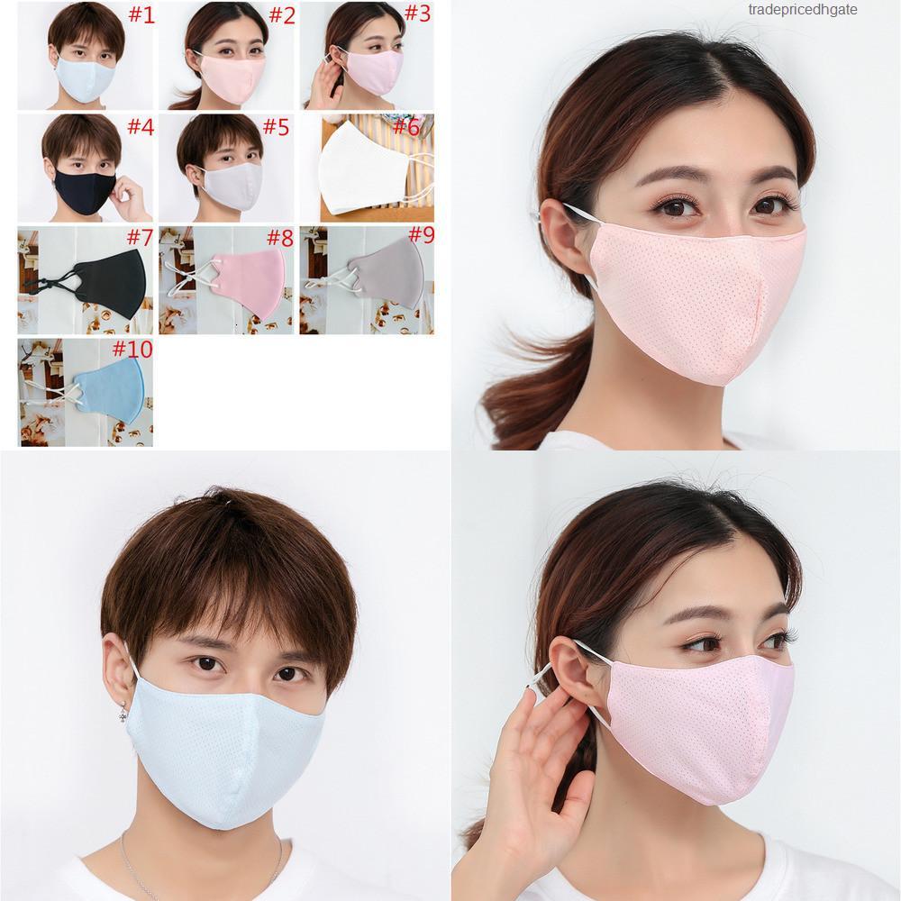 Mascarilla de hielo Protectores de verano Seda adultos cara de moda Sun anti-polvo Máscaras a prueba de ultravioleta C47Z