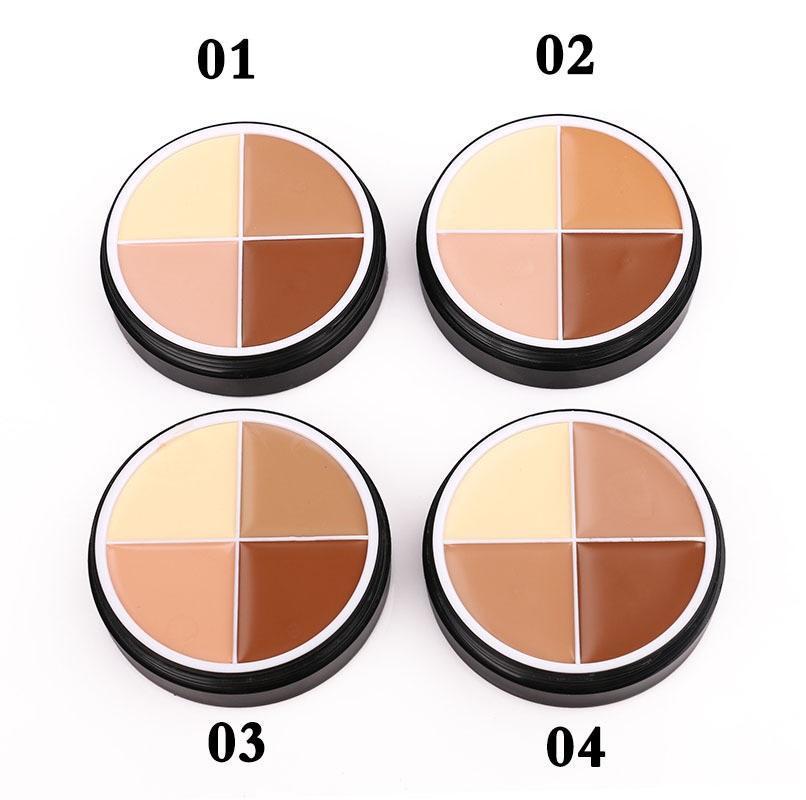 CALDO all'ingrosso Mellow trucco Fondazione Crema 4color Concealer di colore cosmetici trucco crema di fondamento nel trasporto libero
