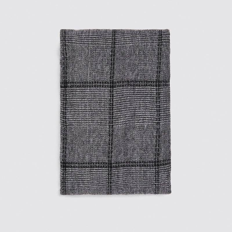 Мягкие Pobing Зимний шарф женские женские тартанские плед кашемировые шарфы обертываются леди шаль утолщение теплого пончо унисекс базовое одеяло Пашмина