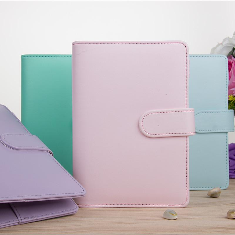 A5 A6 Пустая обложка для ноутбука Свободные листья Binder Покрытие ноутбука Личный планировщик с закрытием магнитной пряжки