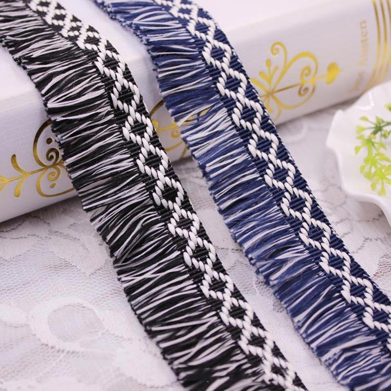 10yards lote fita borla tassel laço diy acessórios lace borlas cortando fringes para casa mobília costura roupas cortinas decoração h jllzcr