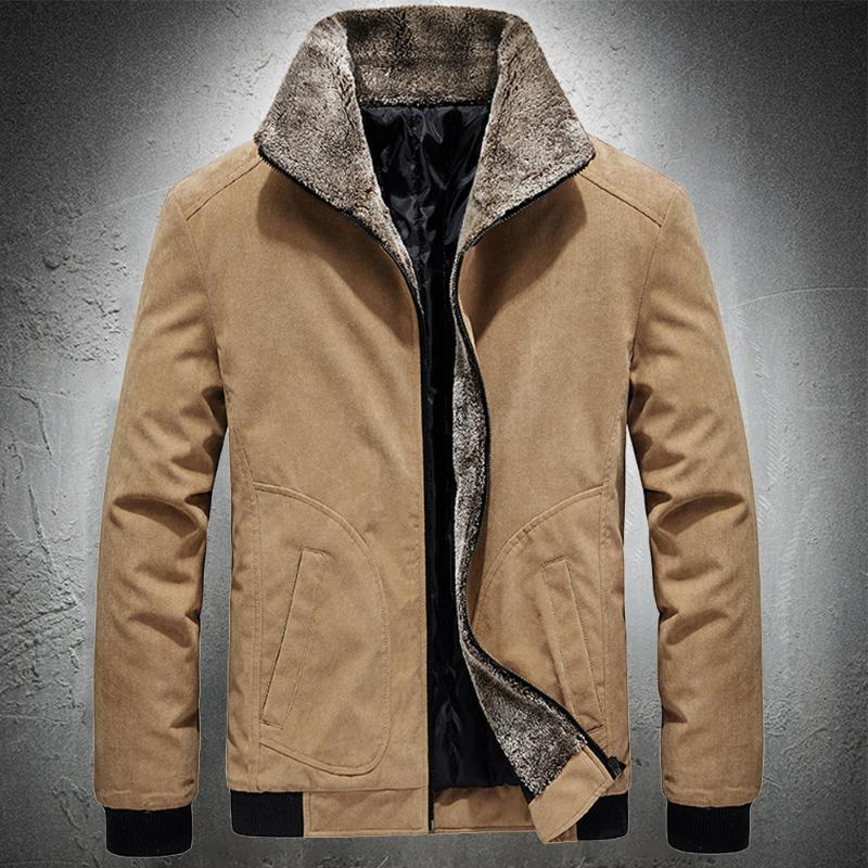 Herren Down Parkas Männer Herbst Winter Corduroy Jacke Baumwolle Gepolsterte Mantel Casual Street Mode Ropa de Hombre Hohe Qualität