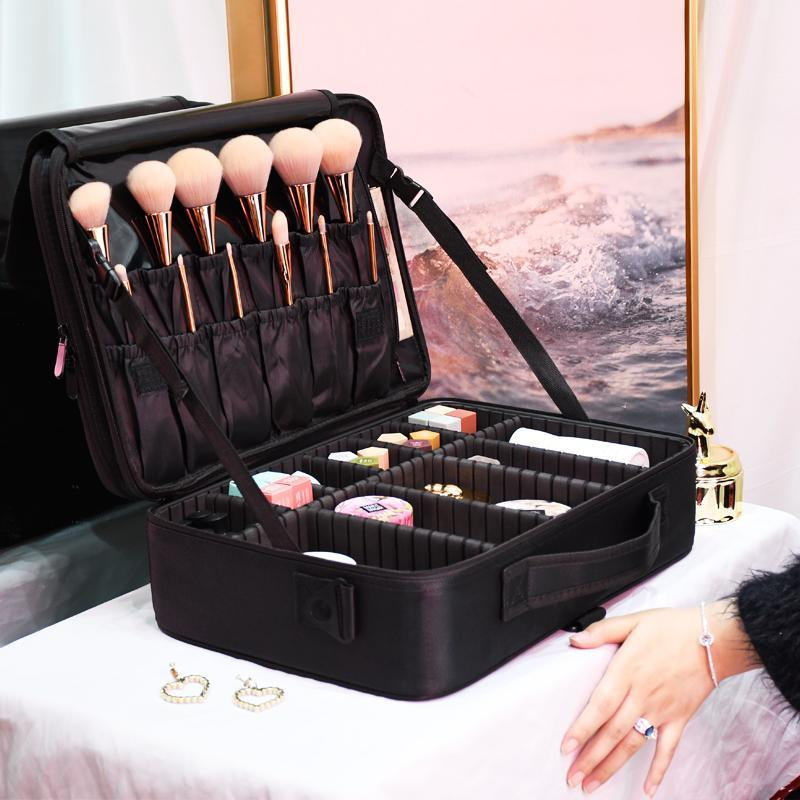 Professionnel Nouveau sac de coiffure grande capacité Femme Sac à cosmétiques Voyage Manucure 2020 Maquillage de toilette AKWBF