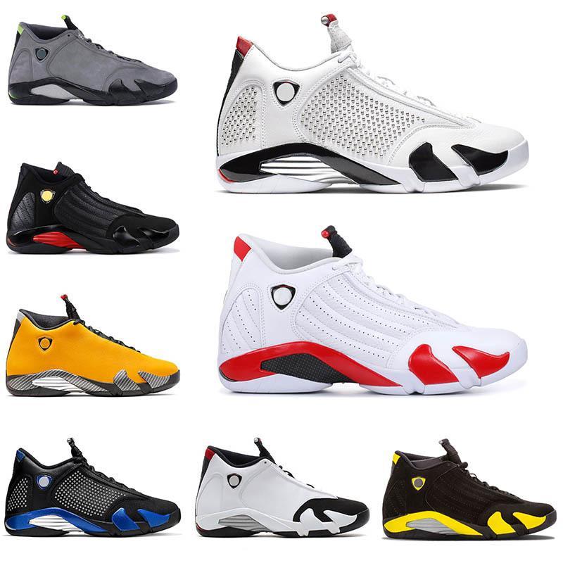 Hotsale 14 Candy Cane SPM X Белые Мужчины Баскетбольные Обувь 14s Обратная Ферр Желтый Пустынный Песок из пустыни Красная Замша Мужская Обувь Thunder Спортивная Обувь