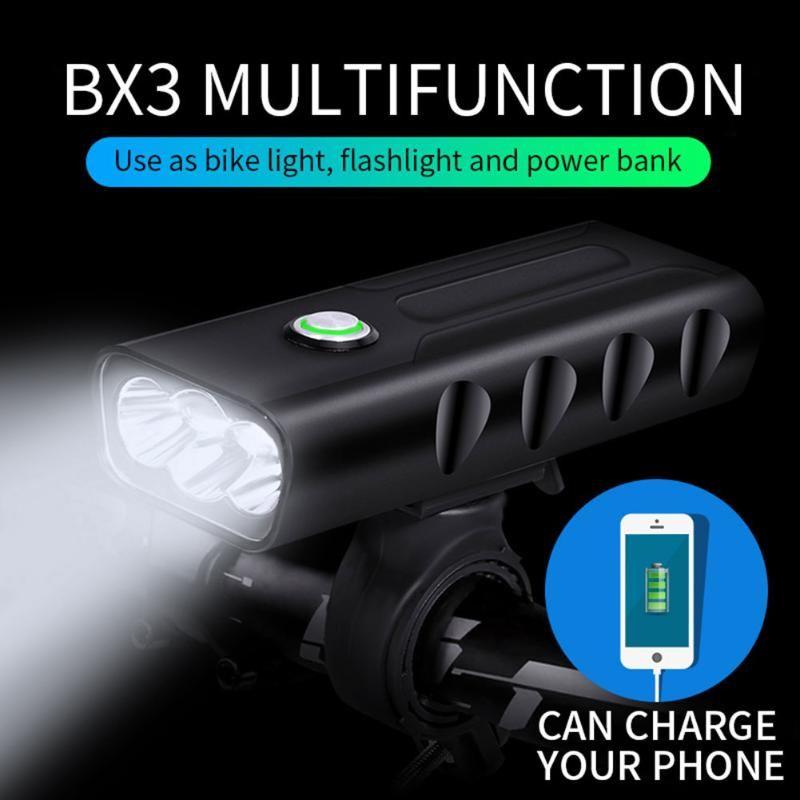 2 stücke Fahrradlicht Wasserdichte USB Wiederaufladbare Vordere LED Fahrradlichter Radlampe Fackel Lenker Fahrrad Zubehör