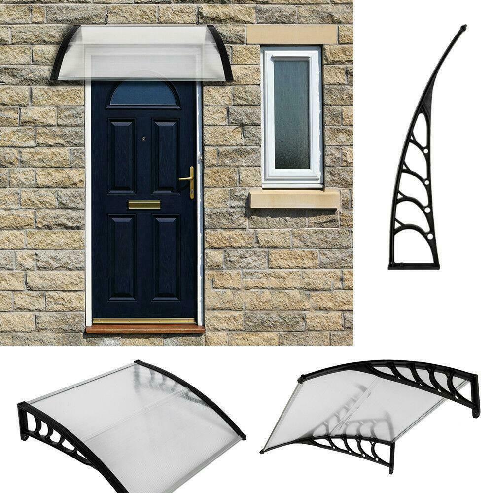 """40 """"x 30"""" Windows-Markise-Polycarbonat-Patio-Türen Schattenabdeckung mit schwarzer Halterung"""