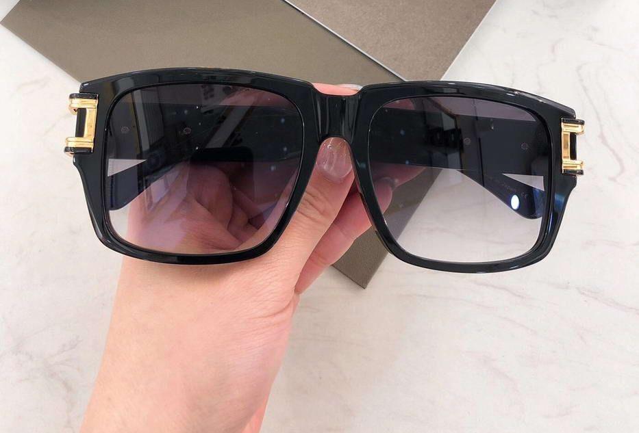 Gelbgold Schwarz Platz Sonnenbrille 402 Graue Gradient Männer Sonnenbrille Schattierungen UV400 Schutz mit Kasten