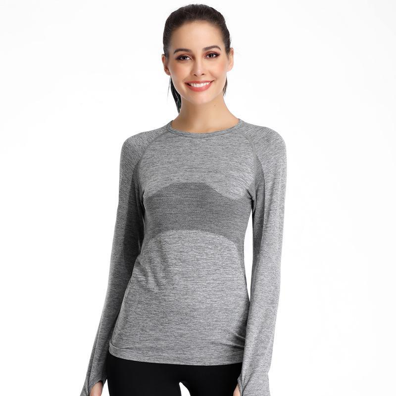 Running Jerseys Shirts Women Long Sleeve Tee Yoga Fitness Tops Sport T Quick Dry Breathable Sportswear Spring Autumn